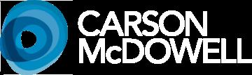 Carson McDowell logo white