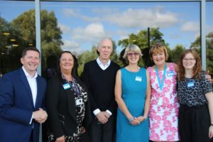 Image of six people attending the launch of the Student Suicide prevention Community of Practice.