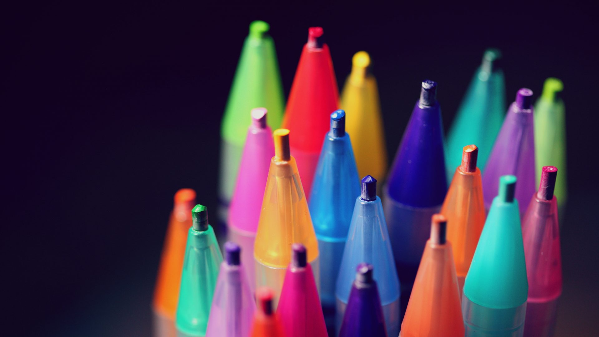 A diverse collection of colourful pencils.